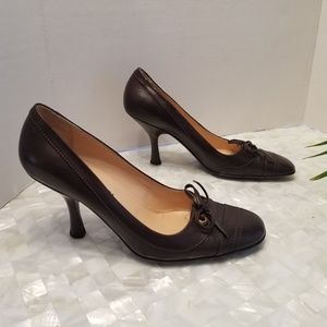 Chanel Brown Cap Toe Heels Sz 39.5/9.5